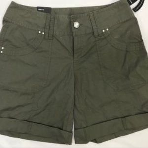 INC Olive Green Curvy Fit Shorts